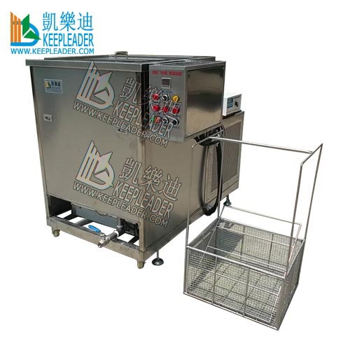 Ultrasonic vapor cleaning machine