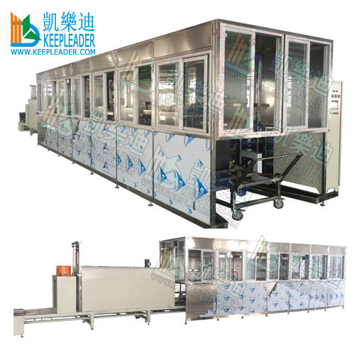 Multiple stages ultrasonic cleaning machine