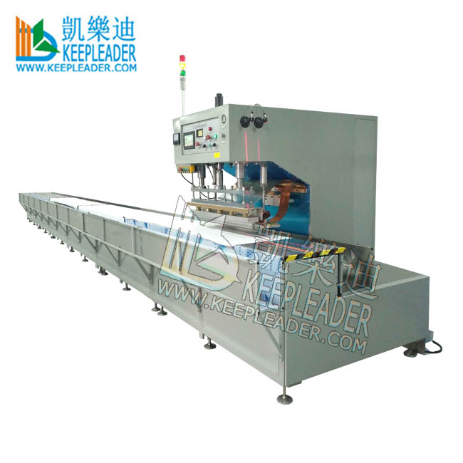 Automatic tarpaulin high frequency welding machine