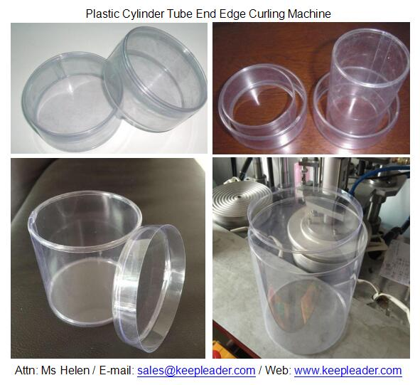 Plastic Cylinder Tube End Edge Curling Machine